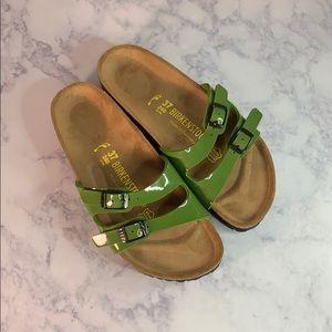 Birkenstock's green straps